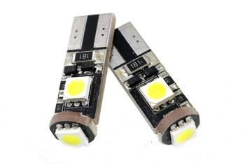 Car LED bulb W5W T10 3 SMD 5050 CAN BUS