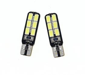 Car LED bulb W5W T10 5630 12 SMD CAN BUS SIDED