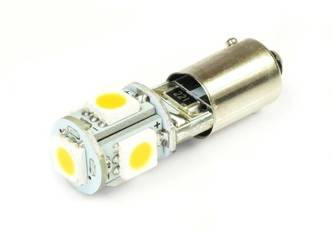 WW LED Bulb Car BA9S 5050 5 SMD CAN BUS White Heat