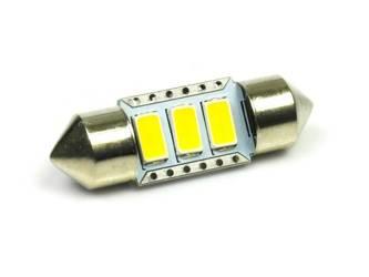 WW LED Bulb Car C5W 3 SMD 5630 White Heat