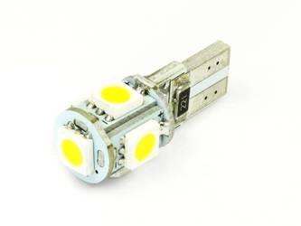 WW LED Bulb Car W5W T10 5 SMD 5050 CAN BUS White Heat