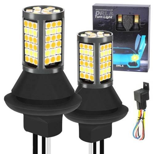 2in1 | PY21W 81 4014 SMD | Lights LED daytime | MACHINE