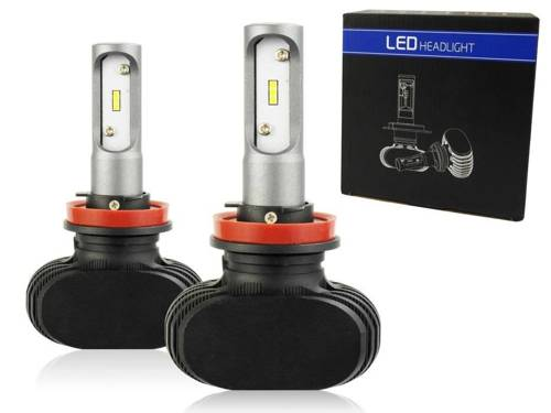 A set of LED bulbs CSP H9 H11 50W 8000 lm