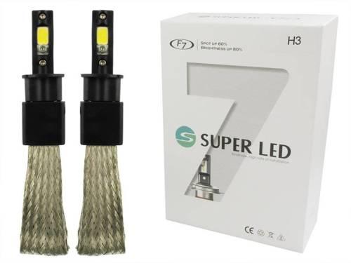 A set of LED bulbs H3 60W COB F7 16000lm