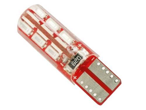 Car LED bulb W5W T10 3014 24 SMD CAN BUS Silicone