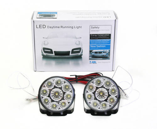 DRL 04 PREMIUM   Lights HIGH POWER LED daytime running   round  70 mm
