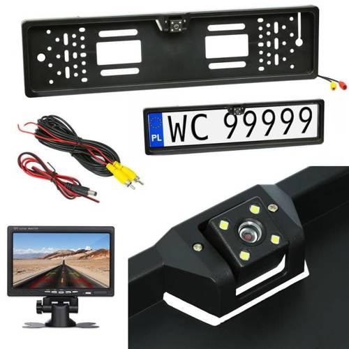 LPC-4LED | Reversing camera frame registration plate EU