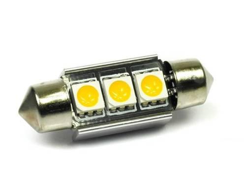 WW LED Bulb Car C5W 3 5050 SMD CAN BUS White Heat