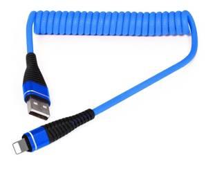 AM32 | Blitz-1M | Coiled USB-Kabel Ihr Telefon aufzuladen | Quick Charge 3.0 2.4A