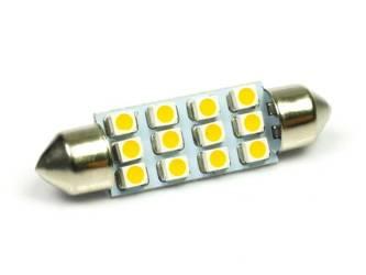 Auto LED-Birne C5W 12 SMD 1210 Warmweiß