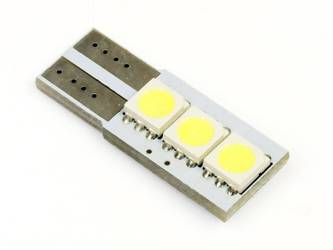 Auto-LED-Lampe W5W T10 3 SMD 5050 CAN-BUS-seitig