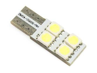 Auto-LED-Lampe W5W T10 4 SMD 5050 CAN-BUS-SIDE
