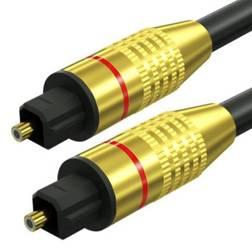 TS07-3-3M-Black   Toslink Optisches Kabel   GOLD - vergoldete Anschlüsse   HQ