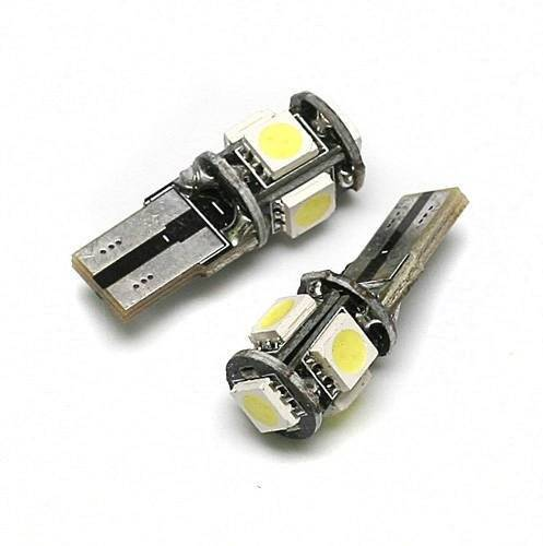 Auto-LED-Lampe W5W T10 5 SMD 5050 CAN BUS