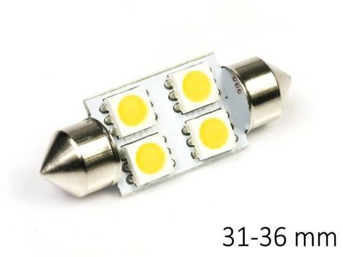 Birne C5W Auto-LED 4 SMD 5050 HEAT