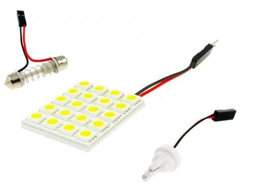 COB-LED-Panel 20 SMD 5050 4x5 + Adapter W5W, C5W, T4W