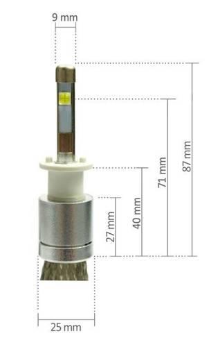 Eine Reihe von LED H1 Cree Truewhite ™ Technologie 9600 lm R3