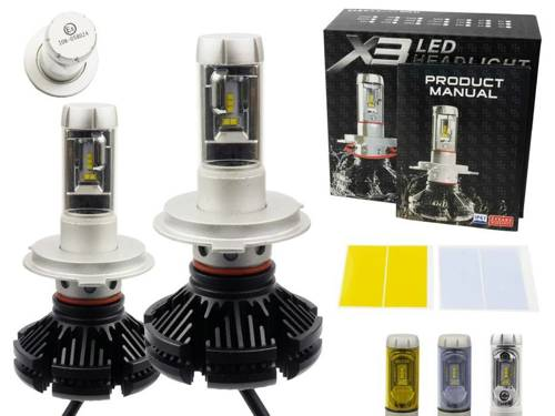 Eine Reihe von LED-Lampen H4 X3 ZES 50W 12000 lm
