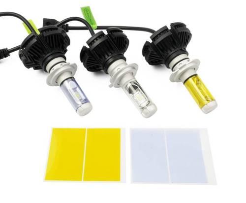 Eine Reihe von LED-Lampen H7 X3 ZES 50W 12000 lm