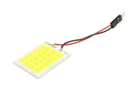 Panel COB-LED-Chip 24 4x6 + Adapter W5W, C5W, T4W