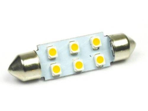 WW LED-Birnen C5W Auto 6 SMD 1210 White Heat