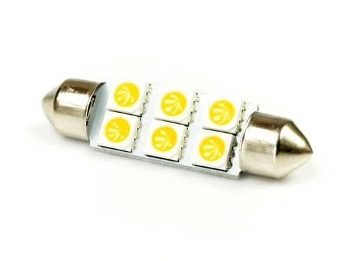 WW LED-Birnen C5W Auto 6 SMD 5050 White Heat