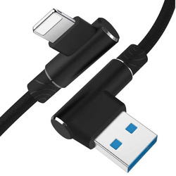 AM30   Apple Lightning 1M   Kątowy kabel USB do ładowania telefonu   iPhone 5 6 7 8 X 11 2.4A