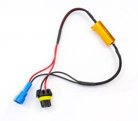 D-50W-8-HB3   Filtr LED CAN BUS 50W 8Ω - oprawka HB3 9005