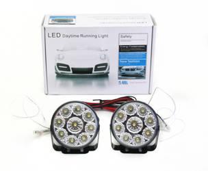 DRL 04 PREMIUM   Światła HIGH POWER LED do jazdy dziennej   okrągłe ø 70 mm