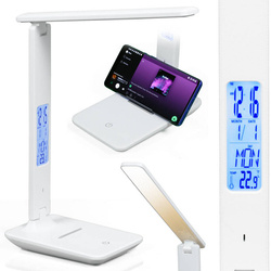 FX-015A | Lampka biurkowa LED z wyświetlaczem | nowoczesna lampka nocna, szkolna lub na biurko