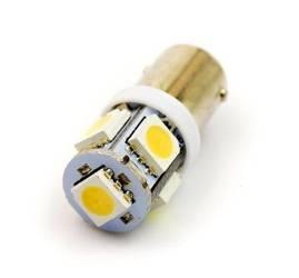 WW Żarówka samochodowa LED BA9S 5 SMD 5050 Biała ciepła