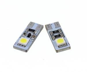 Żarówka samochodowa LED W5W T10 2 SMD 5050 CAN BUS DWUSTRONNA