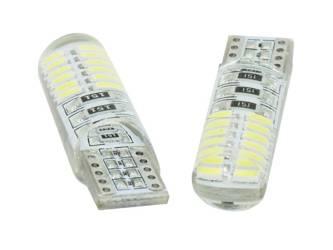 Żarówka samochodowa LED W5W T10 24 SMD 4014 CAN BUS Silikon