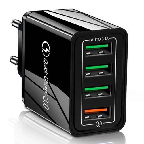 1864 | CA-033 | Szybka ładowarka sieciowa 4x USB | Quick Charge 3.0