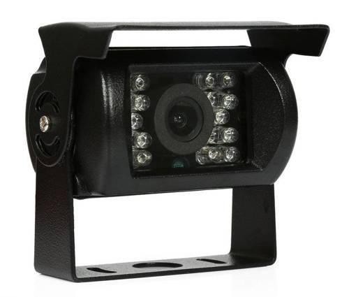 PZ470 | Kamera cofania 12-24V 18IR z daszkiem, w zestawie z przewodem AV o dł. 10 metrów