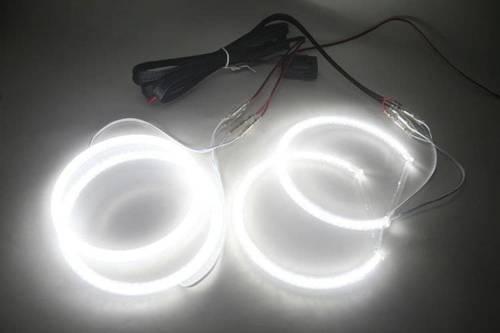 SMD Zestaw ringów LED do BMW E46 sedan po liftingu, z soczewką