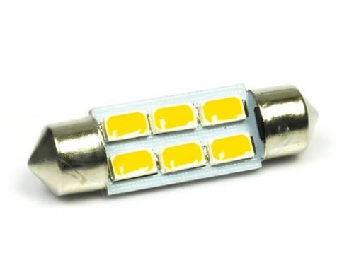 WW Żarówka samochodowa LED C5W 6 SMD 5630 Biała ciepła