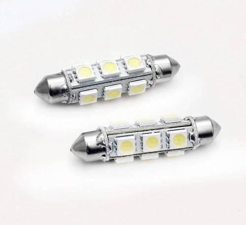 Żarówka samochodowa LED C5W 12 SMD 5050 360st