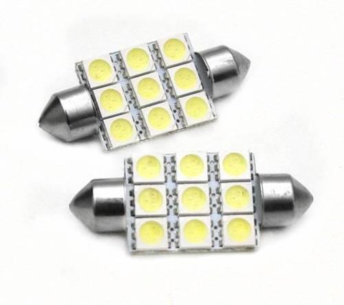 Żarówka samochodowa LED C5W 9 SMD 5050