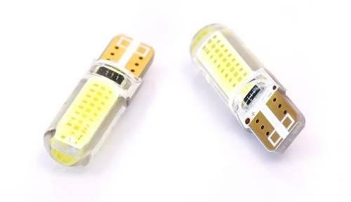 Żarówka samochodowa LED W5W T10 1W COB 360st Silikon