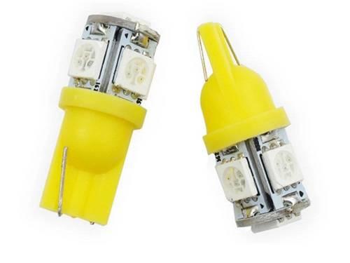 Żarówka samochodowa LED W5W T10 5 SMD 5050 POMARAŃCZOWA